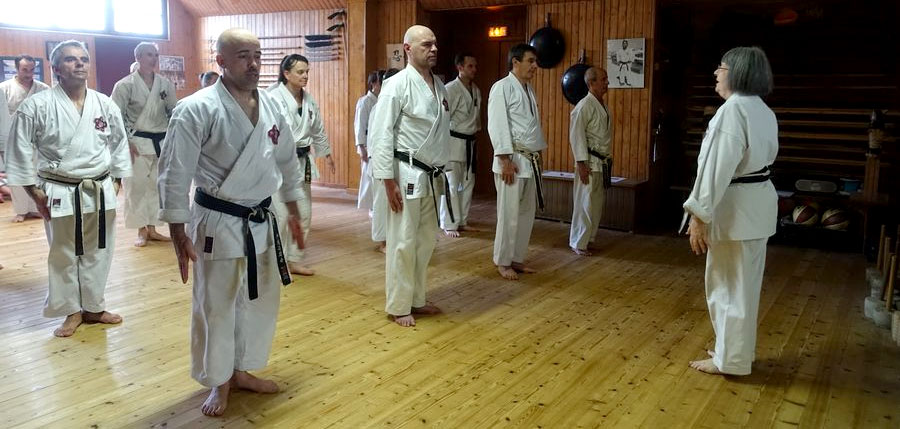 Stage de karaté des instructeurs-chef et assistants ceinture noire